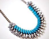 Glitter Guide Hand-painted Crystal Necklace