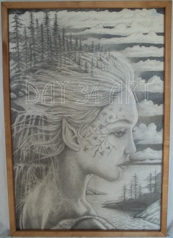 """Title - Time Hurries On - Pencil Sketch - 20"""" x 30"""""""