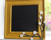 8x8 Mustard Chunky frame with ivory flowers