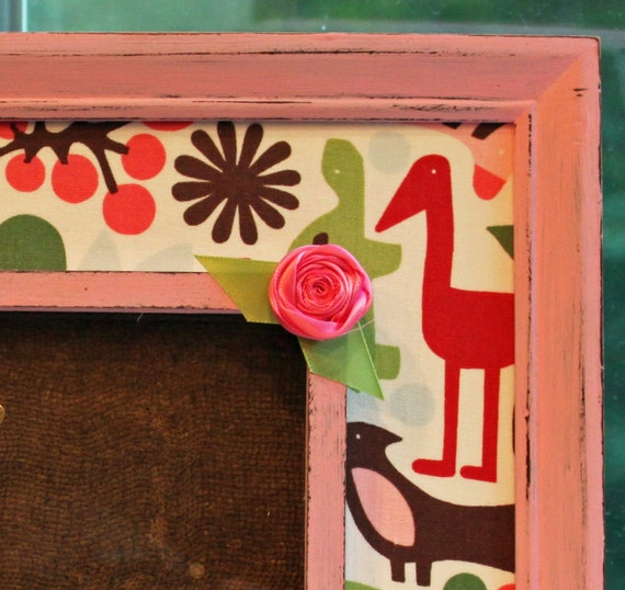 2D Zoo Girl nursery decor, pink 4x6 (8x10 Size) Picture Frame- MADE TO ORDER