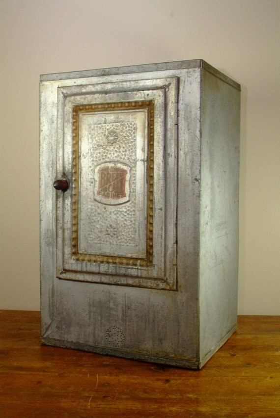 Antique All Metal Bread And Cake Cabinet By Home Comfort From