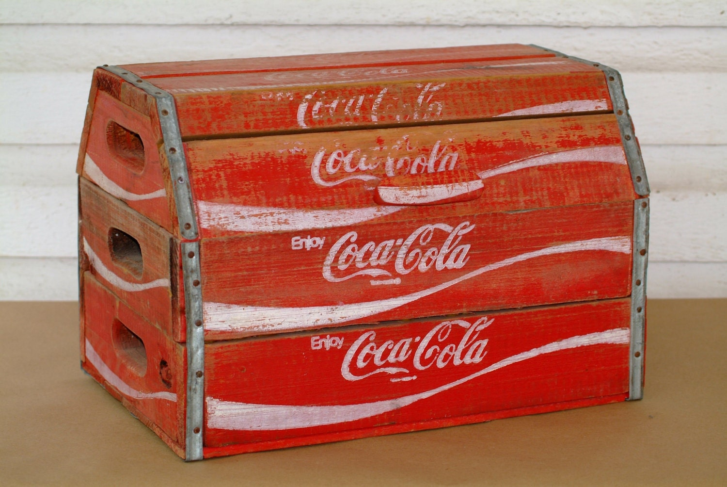 Custom Coca Cola Chest built from Wooden Coke Crates