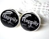 Happily ever after cufflinks - keepsake gift for the groom groomsmen or father - anniversary gift