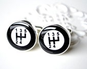 Gear shift cufflinks - gift for him, brother, father, husband, groom, groomsmen for Holiday, birthday, anniversary or wedding