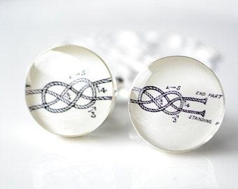 Tying Knot Cufflinks -  stainless steel cufflinks by White Truffle Studio