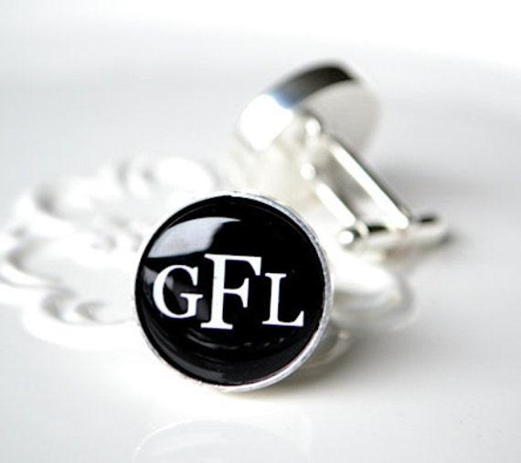 Custom monogram cufflinks, timeless mens jewelry keepsake gift, classic cuff link accessories
