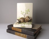 v i n t a g e Handpainted Children's Gibson Ceramic Raccoon Bookend