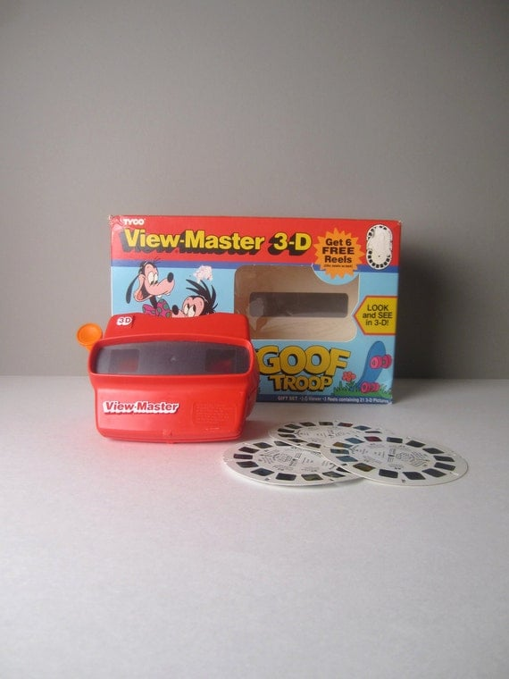 v i n t a g e 3D Tyco View Master featuring Disney's Goofy and Son--3 Reels
