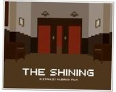 The Shining, Elevator (16x20 Pixel Art Print)