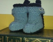 PATTERN Pull Me Up By My Bootstraps Crocheted Baby Booties