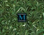 Emerald Green Swirl Marbled Paper - Digital Marbling Design FM009 - Scrapbook Paper - Texture - Origami Paper - Printable - Instant Download