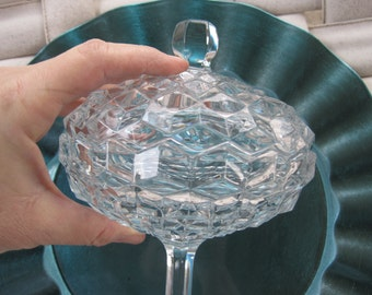 Fostoria  American Clear  compote dish with lid