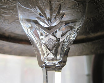 Six Vintage Royal Leerdam crystal cordials Carola pattern