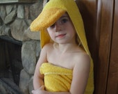 Duck Towel Children's Yellow for Bath, Pool, Beach