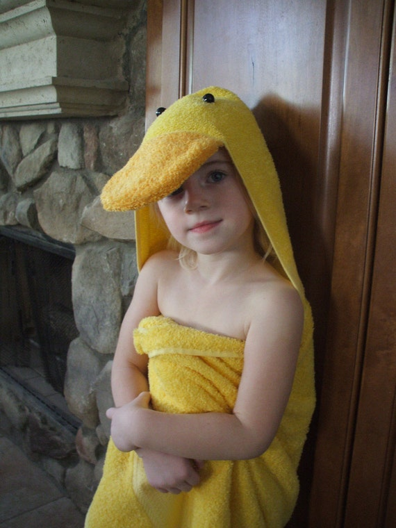 Duck Towel Children's Yellow for Bath, Pool, Beach