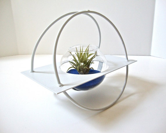 Limited Edition! Air Plant Rocking Chair Terrarium, Airplant Holder, Roly Poly Glass Vase, Rocking Vase, Rocking Glass Vase, Roly Poly Vase