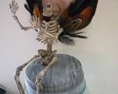 Christmas ornament, Halloween, decoration, skull, skeleton, goth, creepy, faerie, holiday,doll, fairy,