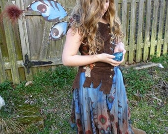 Fairy, Skirt, Costume, Faerie, Woodland wedding, Halloween, Fantasy, Pixie, Elvish, Fairy skirt, Faery clothes, Butterfly, Dress, Festival