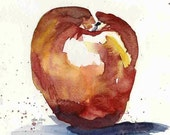 "Apple Delicious - Still Life watercolor - 8"" x 10"" signed giclee print"