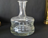 Vintage Crystal Ship Decanter Bottle