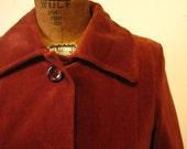 Womens Vintage Velveteen Opera Coat
