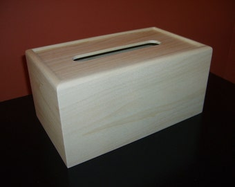 Unfinished Wood Tissue Box Cover-Kleenex 160 count 2-ply box-unfinished wood box-engravable wood box-personalized laser engraving