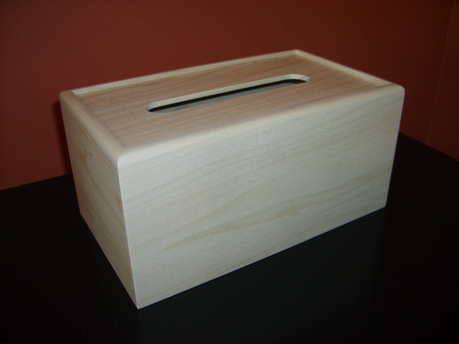 Unfinished Wood Tissue Box Cover Kleenex 160 Count 2 Ply