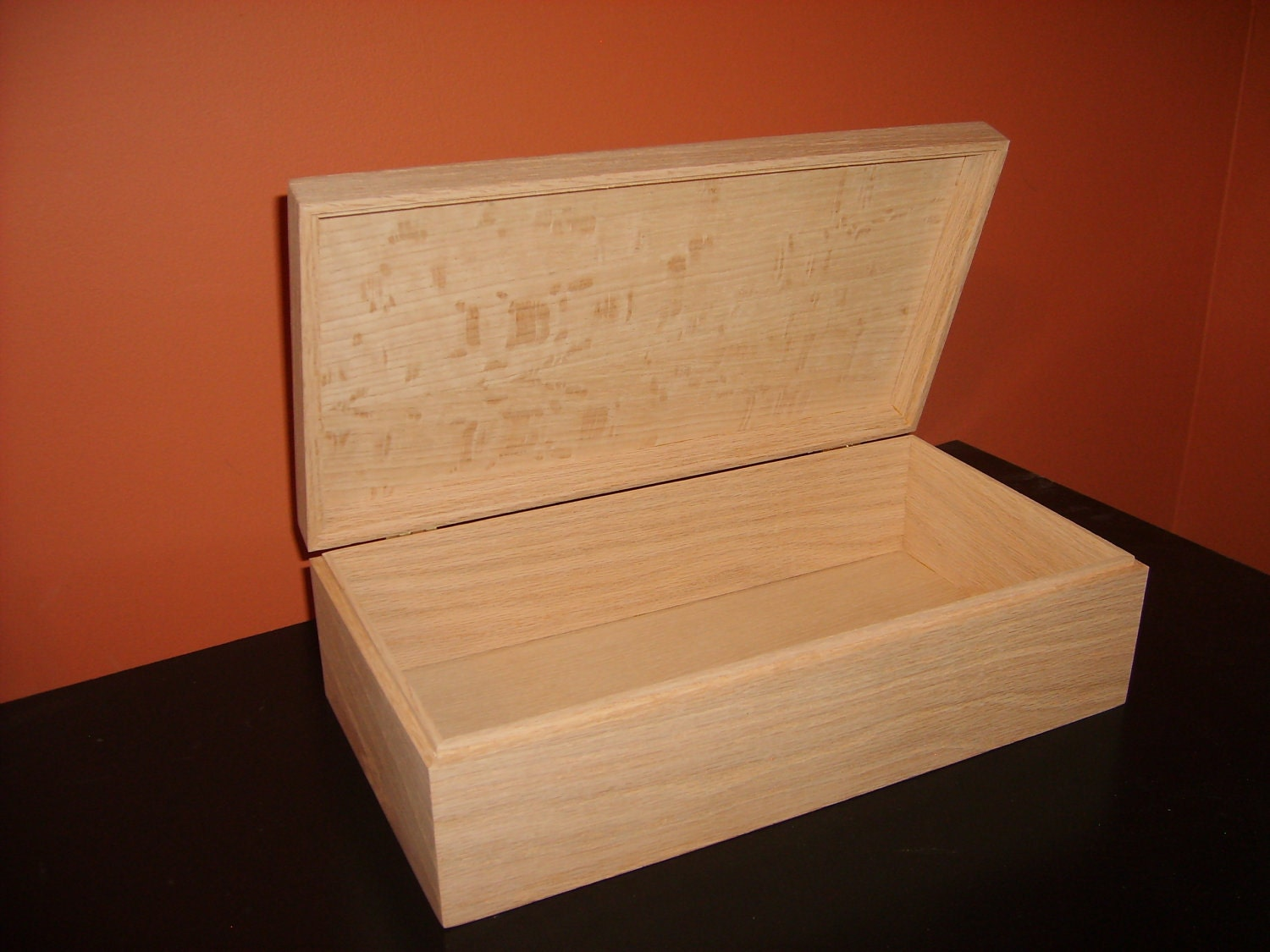Unfinished wood craft boxes - Unfinished Wooden Box With Hinges Latch 10 X 6 X 3 3 4 Unfinished Wood Box Ready To Finish Engravable Wood Box Personalize With Engraving