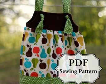 PDF Apron Knot Dress Sewing Pattern Sizes 3 m - Girls 8 INSTANT DOWNLOAD