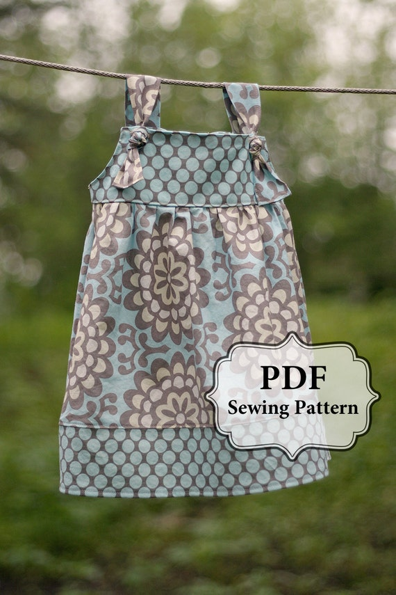 PDF Apron Knot Dress Sewing Pattern Sizes 3 month - 5T