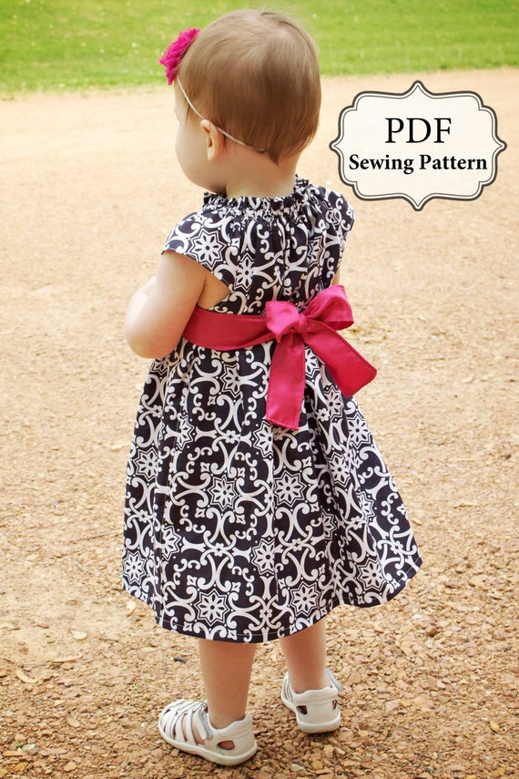 PDF Flutter Top & Dress Sewing Pattern Sizes 3m - girls 9/10 INSTANT DOWNLOAD