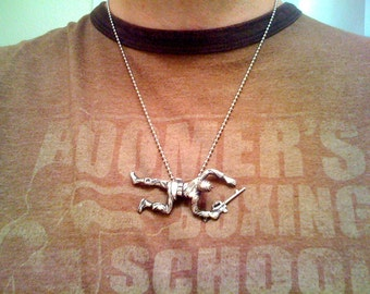 Sterling Silver Army Man Necklace