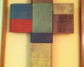 Multicolored Reclaimed Wooden Cross