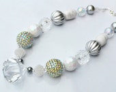 Beaded Necklace Women Girls Toddler Tween Chunky Bubblegum Jewelry Glamorous