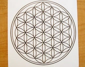 Crop Circle Collection - Sacred Geometry Window Sticker (03) - Flower of life