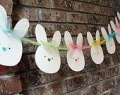 Easter Bunny Banner, Easter Garland, Nursery Room Decor Bunny Banner, Bunny Garland, Baby's Room Decor - AveryleeDesigns