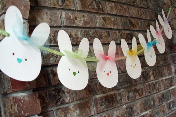 Easter Bunny Banner, Easter Garland, Nursery Room Decor Bunny Banner, Bunny Garland, Baby's Room Decor