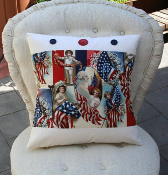 American Flag - Betsy Ross Accent Pillow Cover