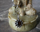 Belly Button Rings / Belly Button Jewelry in Sterling Silver & Garnet -  Handmade Body Jewelry