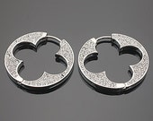 Clover Cubic Hoop Earrings