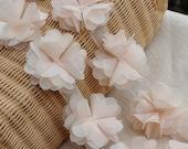Ivory Lace Trim Flowers for Bridal Flowers Newbown Headware Wedding Dress Decor