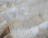 White Cotton Lace Trim Embroidered Lace Butterfly Bridal Lace 5.9 Inches Wide 2 Yards for Home Decor Costume Supplies Altered Couture