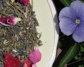 Fresh Morning Soothing Tea Soak Rose, Lavender, Yarrow, Calendula, Chamomile, Buttermilk 1/4 pound 3 Cups