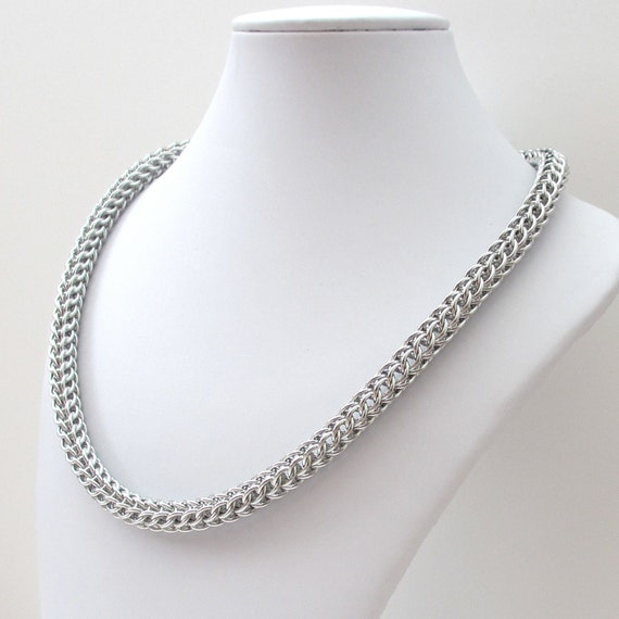 Chainmaille necklace, Full Persian weave