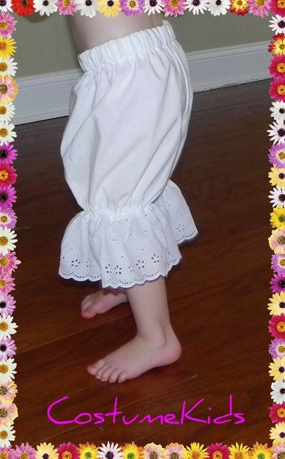 Ready to ship .  Cotton Pantaloons for toddlers and children. custom made. Great for adding to any costume.