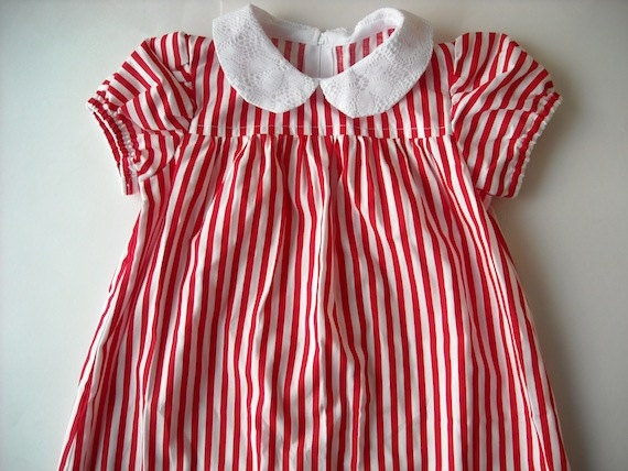 Vintage Peppermint Stripe Child's Dress
