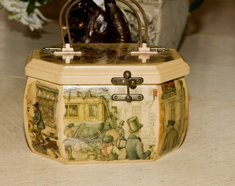 Vintage Wooden Handbag