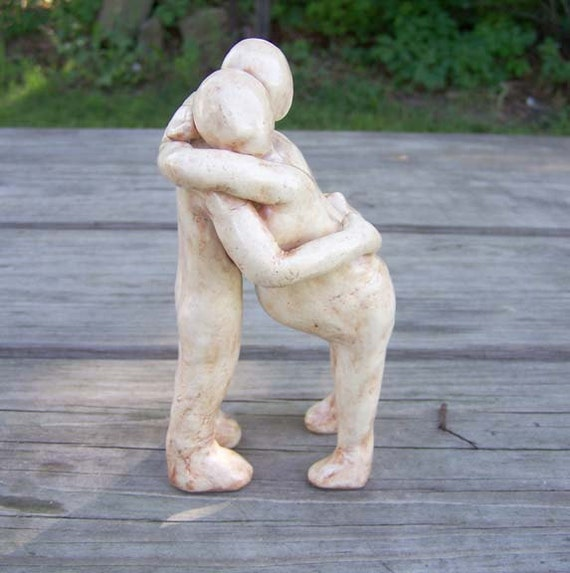 Couple in Labor Figurine - Sculpture - Made to Order