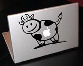 "Moo Cow Apple 15"" Vinyl Decal Sticker"