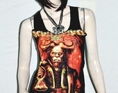 Devil Driver Metal Punk DIY Sexy  Singlet Tunic Tank Top Shirt S/M